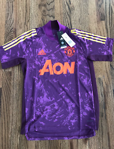 61 Adidas FR-3702 Manchester United European Training Jersey Purple Mens Small