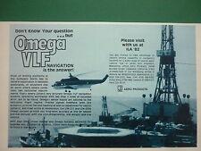 5/1982 PUB LITTON AERO PRODUCTS OMEGA VLF NORTH SEA OIL HELICOPTER ORIGINAL AD
