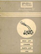 Ferguson High Lift Loader (Banana Loader) Parts Manual