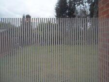 1.5m X 45cm PRIVACY FROSTED WHITE LINES STRIPES GLASS STATIC CLING WINDOW SELF