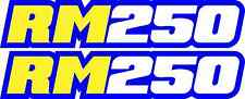RM 250 Blue Swingarm Airbox Number Plate Decals Stickers Rm250 RMX mx graphics