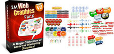 Collection of  Internet Marketing Web Graphics  on CD