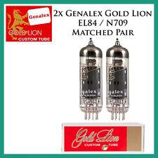 New 2x Genalex Gold Lion EL84 / N709   Matched Pair / Duet / Two Tubes
