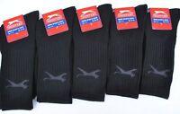 10 Pairs Slazenger Mens Sports Crew Work Socks Black Colour Size 11-14