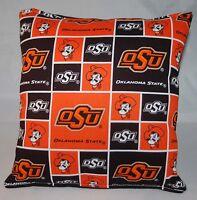 OSU Pillow NCAA Oklahoma State OSU Pillow Handmade In USA