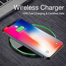 For Samsung Galaxy S8,S7,Note 5*Iphone8,X Fast Qi Wireless Charger*Charging Pad