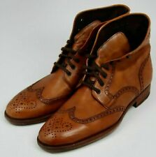 MAGNANNI for Nieman Marcus Brown Leather WINGTIP Chukka Boots - Men's sz 13