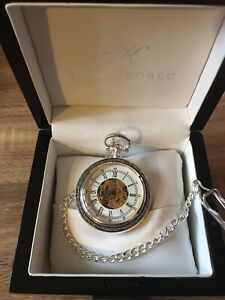 Pocket Watch (wind up) on Chain and Case - Lots of Watchers! Not sure why?