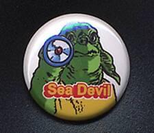 SEA DEVIL - DOCTOR WHO SUGAR SMACKS 'TRIBUTE' 25mm small badge button pin