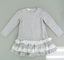 New Authentic Gucci Kids Dress w/Ruffles GG Heart Detail, 18-24 Month, 265361