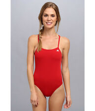 9aca79c277 Women's adidas Optic Dot C Back One Piece Swimsuit Red Size 22