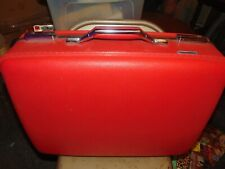 """Vtg American Tourister Luggage Suitcase 21"""" wide Red Tourister no key"""