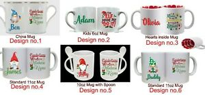 Christmas Mugs 6 designs & 4 types of mugs for Adults & Children - Xmas Gift