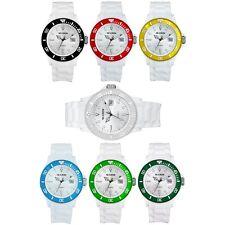 Uhr Armbanduhr Damenuhr Herrenuhr Weiß Weiss Silikon Gummi Silikonuhr Gummiuhr