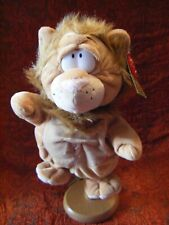 "Keel Toys Wild Podgeys Lion Puppet With Sound with tags 11"" approx VGC (B116)"