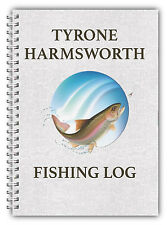 NUOVO A5 Pesca Personalizzato registro DIARIO Planner Dad Grandad HOBBY regalo 03