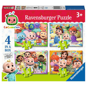 Ravensburger Cocomelon Jigsaw Puzzles 03113 Ages 3+ 12, 16, 20, 24 Pieces 4 Pack