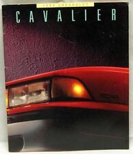 CHEVROLET CHEVY CAVALIER AUTOMOBILE ADVERTISING SALES BROCHURE GUIDE 1988