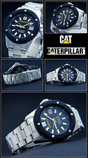 Diver's - CAT Massive Steel Shock Protected Unisex Watch 20- Tight NEW Bar Water