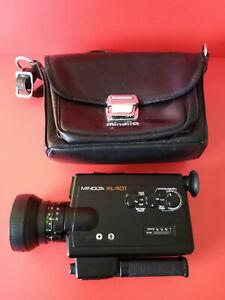 Vintage Design // Minolta XL 401. Super 8 Movie Camera & Original Case.