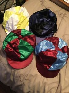 Racesafe Horse Riding Hat Silks X 4 Hat Covers. New... Various colours Small/med