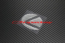 For Lexus Steering Wheel Emblem Gray Carbon Fiber Decal F IS RC GS RX LS (Large)