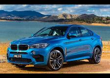 BMW X6 M NEW A2 CANVAS GICLEE ART PRINT POSTER FRAMED