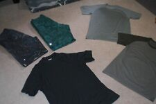 Lot of 2 pair of Rare Mens Lululemon Shorts and 3 Tees sz M