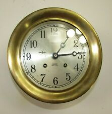 """New listing 1960-64 """"Abercrombie & Fitch"""" Chelsea Ship's Bell 6"""" Brass Marine Clock"""