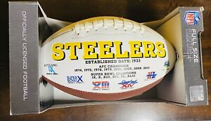 Pittsburgh Steelers NFL 6 Time Super Bowl Championship Commemorative Football