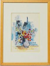 Aquarell Nini Consolaro Stillleben Blumen 1975 Sammlung Karl Schott 37 x 28 cm