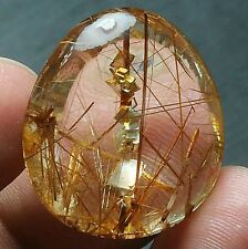 37.3ct Rare NATURAL Stone in the stone   RUTILATED Crystal Pendant Polished