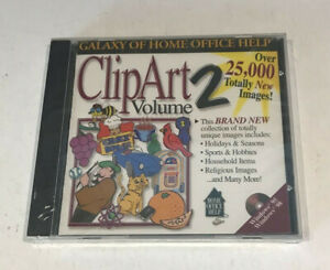 Vintage ClipArt Volume 2 -25,000+ Images PC CD ROM Windows 95/98 Sealed