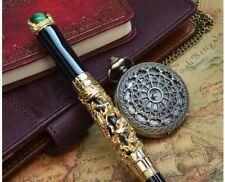 Jinhao luxe Pen Stylo Gold Dragon Vert Perles roller ROLLERBALL neuf + étui