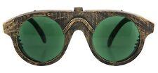 Green & Gold Forgeman Steampunk Costume Glasses Victorian Machinist Goggles