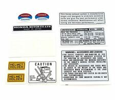 ✰ Warning and Service Label Decal Set ✰ 1976 Honda CB400F Four ✰ Light Ruby Red