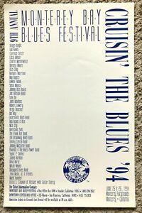 MONTEREY BAY BLUES FESTIVAL ORIGINAL POSTERS 1994, 96 & 99