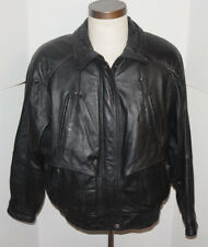 MEN'S WILSONS LEATHER BLACK MOTORCYCLE JACKET! THINSULATE LINER! VENTILATION! M