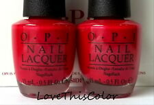 """2 x Opi Red - Launch Classics Core Cltxn """"Sophisticates"""" Shiny Red Shimmer Lot"""