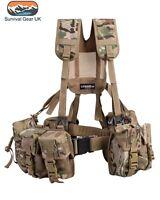 Army Military Combat Full Webbing Belt Set System Multicam Multi Cam Airsoft