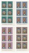 1975 NAURU Xmas Christmas . Stained-glass Windows. FULL SET (4) BLKS of 6 - MUH