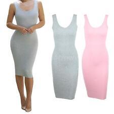 Cotton Collar Sleeveless Dresses Size Plus