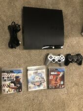 Sony PlayStation 3 Slim 250gb Black Console PS3 CECH-2001B 3 games 2 Controllers