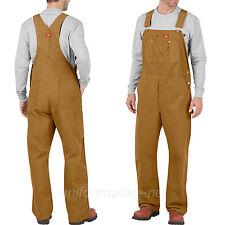 Dickies Bib Overalls Mens Cotton Bib Overall DB100 Brown Duck, Indigo Denim Pant