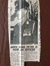 B8c Ephemera 1968 Picture Aden Hero Peter White Broadstairs