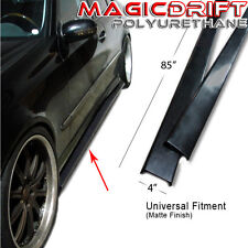 "NEW 85"" x 4"" Universal Style JDM VIP SIDE SKIRT FLAT BOTTOM LINE EXTENSION LIP"