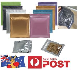 STORAGE ZIPLOCK BAGS, All Colours Aluminium Foil Resealable Tobacco, Herbs, Food
