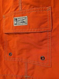 Polo Ralph Lauren Kailua Lined Swim Trunks Board Shorts Cargo Orange $65 Sz 1XB