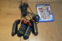 Sony PlayStation 2 Buzz Bundle Buzzers + Buzz the Music Quiz, Tested and Working