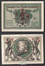 Arnstadt Notgeld: 43.2 Notgeld der Stadt Arnstadt, Bst.: n bankfrisch 1921 25 Pf